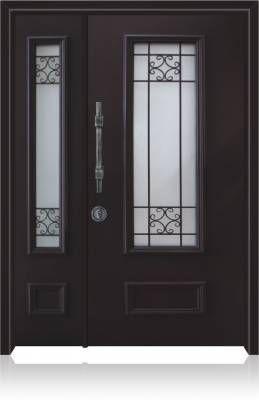 דלת כניסה מעוצבת בסגנון נפחות 8006