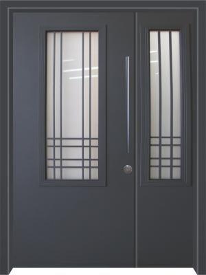 דלת כניסה מעוצבת בסגנון נפחות 8008