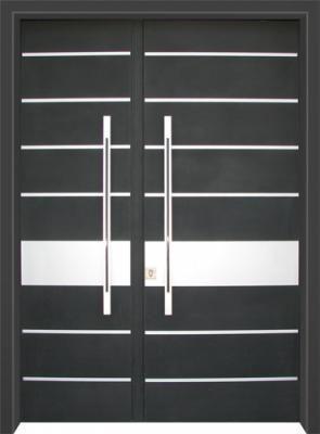 דלת כניסה מעוצבת בסיגנון מודרני 1040
