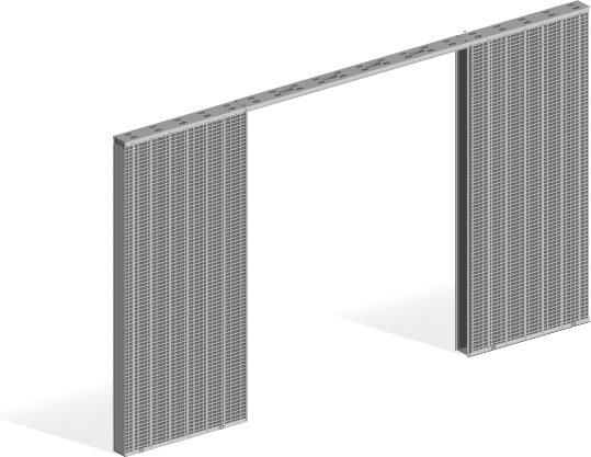 כיס בטון 2 דלתות - 011