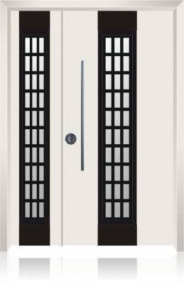 1506 דלת כניסה מעוצבת הייטק