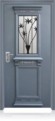 6002 דלת כניסה מעוצבת בסיגנון יווני