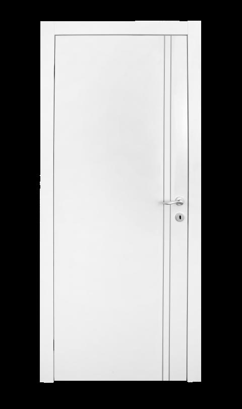 דלת למינטו מדגם 2 פסי ניקל לגובה